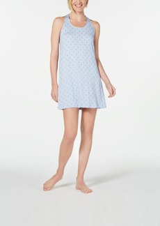 Alfani Ultra Soft Keyhole Printed Chemise Nightgown, Created for Macy's