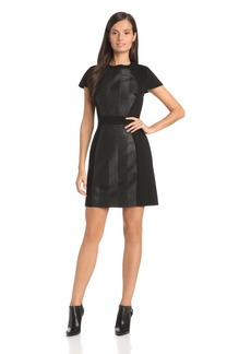 Ali Ro Women's Scuba and Texture Blocking Dress