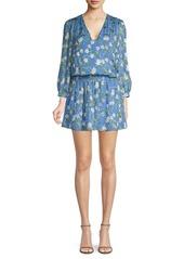Alice + Olivia Adaline Floral Print Dress