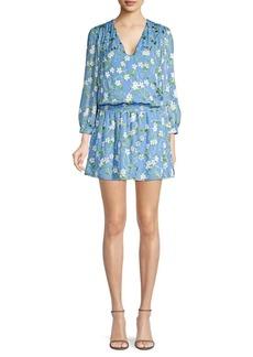 Alice + Olivia Adaline Smocked Popover Dress