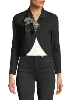 Alice + Olivia Addison Embellished Cropped Jacket