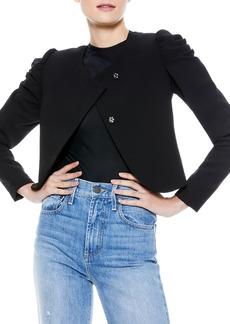 Alice + Olivia Addison Puff-Sleeve Cropped Jacket