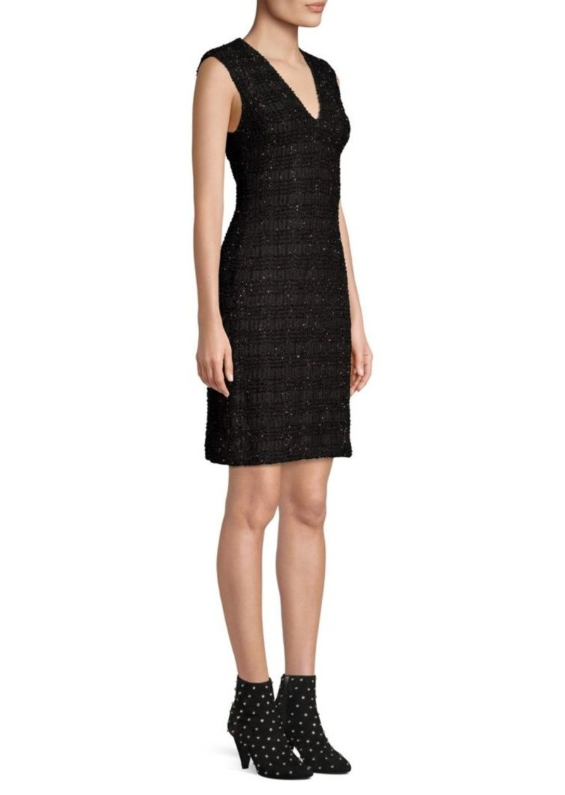 Alice + Olivia Adelaide Metallic Sheath Dress