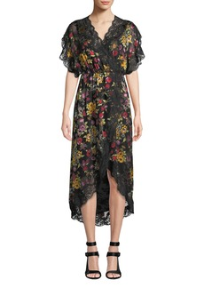 Alice + Olivia Adele Clean-Waist Wrap Dress