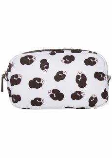 Alice + Olivia Adri Print Nylon Small Cosmetic Bag