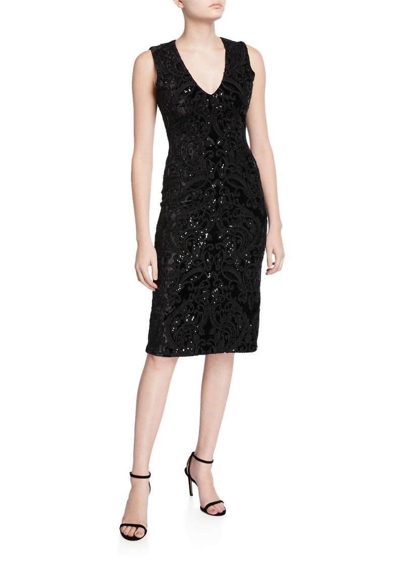 Alice + Olivia Alba Embellished Midi Dress