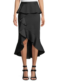 Alice + Olivia Alessandra Ruffled Peplum Pencil Skirt