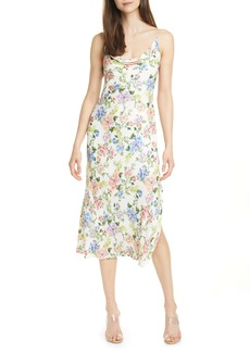 Alice + Olivia Alice + OIivia Harmony Floral Drapey Side Slit Dress