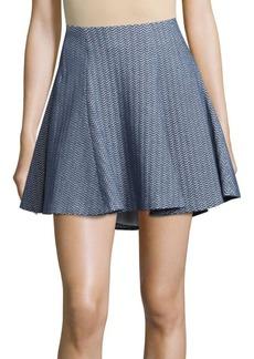 Alice + Olivia A-Line Herringbone Skirt