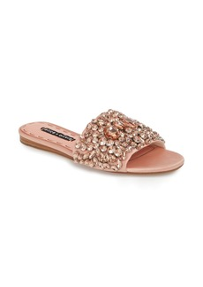 Alice + Olivia Abbey Crystal Embellished Slide Sandal (Women)