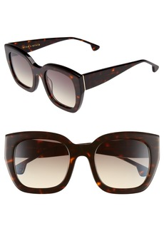 Alice + Olivia Aberdeen 50mm Square Sunglasses