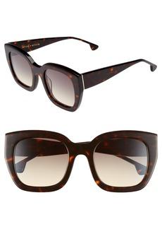 Alice + Olivia Aberdeen 50mm Square Sunglasses