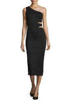 Alice + Olivia Margo One-Shoulder Midi Dress