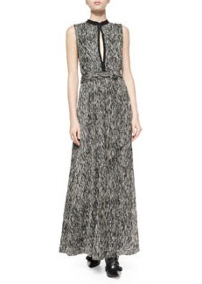 Alice + Olivia Ramon Mock-Neck Knot-Waist Dress