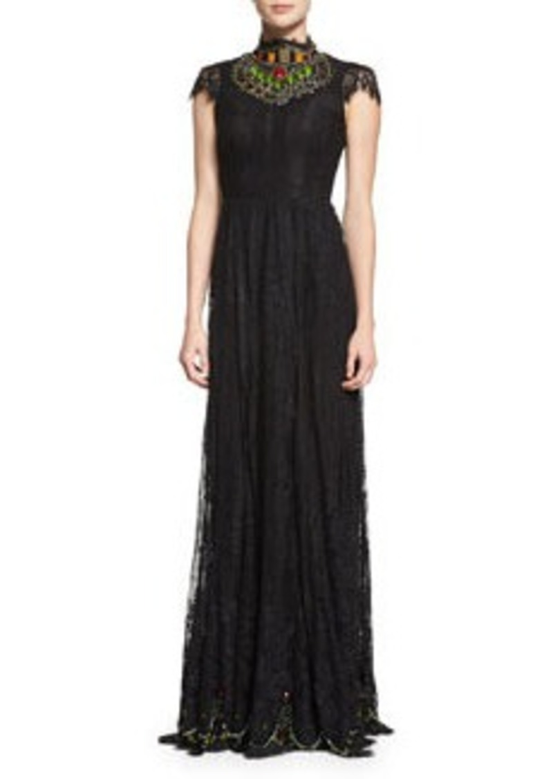 Alice + Olivia Arwen Beaded Lace Gown