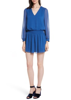 Alice + Olivia Adaline Smocked Waist Minidress