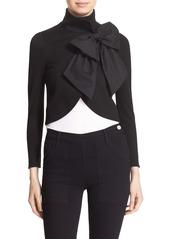 Alice + Olivia 'Addison' Bow Front Jacket