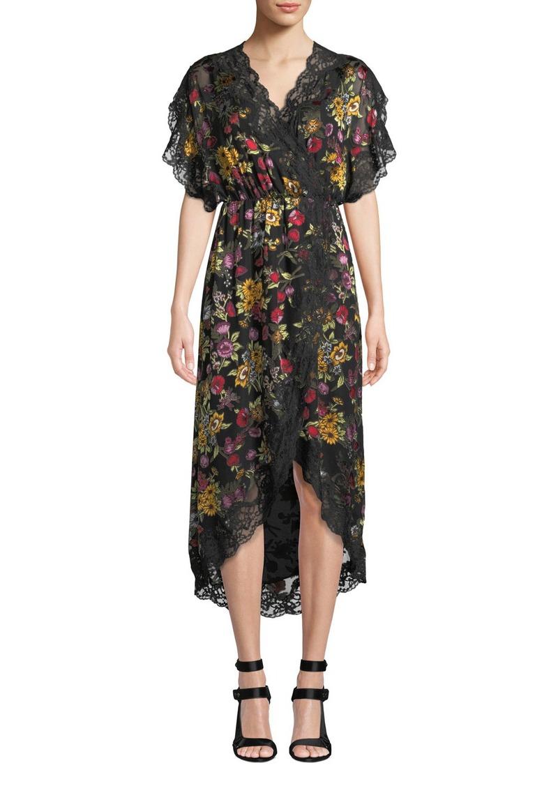 Alice + Olivia Adele Clean-Waist Wrap Dress