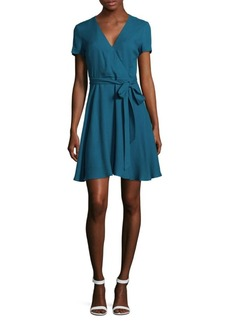Alice + Olivia Adrianna Mock Wrap Dress