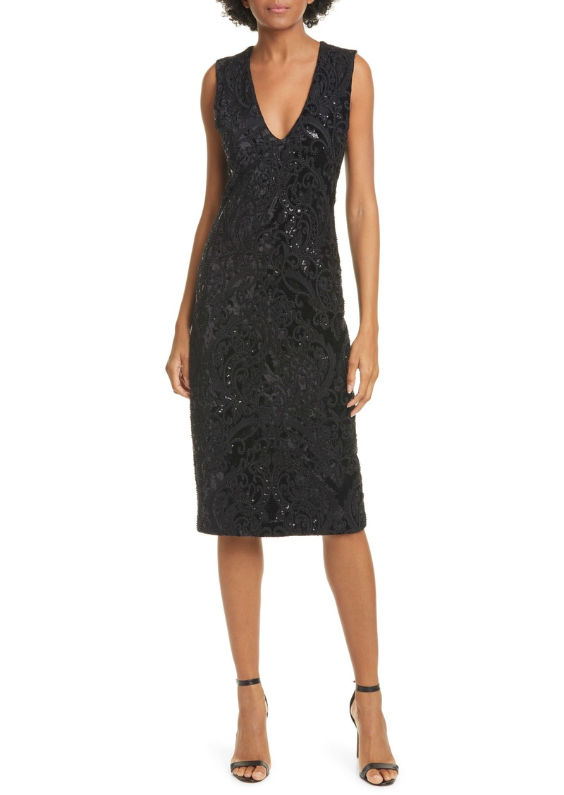 Alice + Olivia Alba Sequin Sleeveless Dress