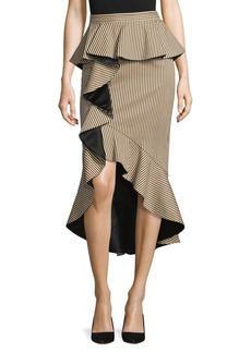 Alessandra Peplum Ruffle Pencil Skirt