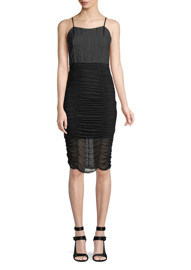 Alice + Olivia Alex Gathered Corset Bodycon Cocktail Dress