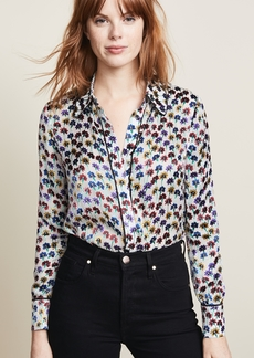 alice + olivia Alfie Button Down Top