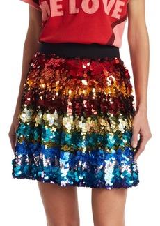 Alice + Olivia x Beatles Blaise Sequin Skirt