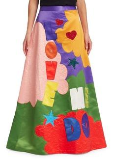 Alice + Olivia Alice + Olivia x Beatles Ursula Embellished A-Line Ballgown Skirt