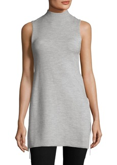 Alice + Olivia Alvera Mock-Neck Tunic with Ties