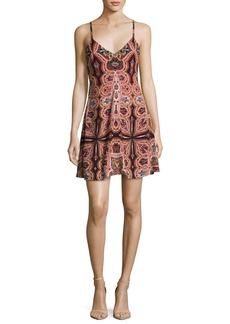 Alice + Olivia Alves Cross-Back Flared Dress