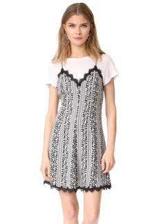 alice + olivia Alves Cross Flare Dress