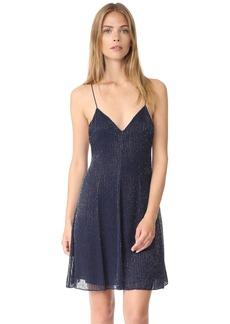 alice + olivia Alves Embellished Cross Back Flare Dress
