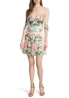 Alice + Olivia Alves Floral Cold Shoulder Dress