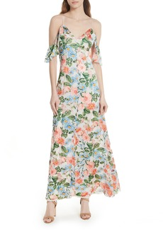 Alice + Olivia Alves Floral Cold Shoulder Maxi Dress