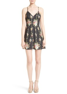 Alice + Olivia Alves Floral Fit & Flare Dress