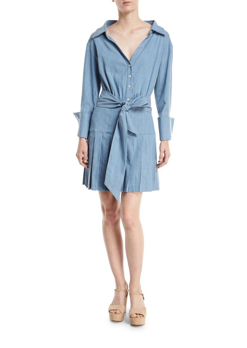 Alice + Olivia Amanda Shirtdress With Belt