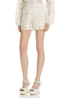 Alice + Olivia Amaris Faux Leather Shorts