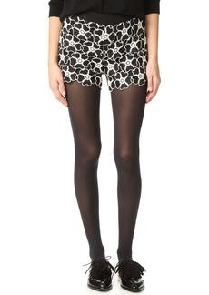 alice + olivia Amaris High Waisted Lace Shorts