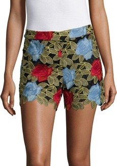 Alice + Olivia Amaris Lace Shorts