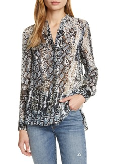 Alice + Olivia Amos Burnout Animal Print Top