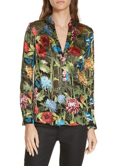 Alice + Olivia Amos Floral Burnout Tunic