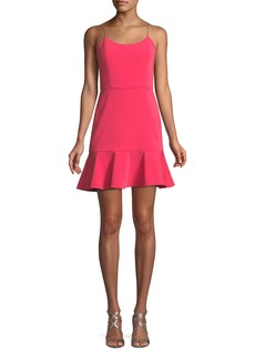 Alice + Olivia Andalasia Sleeveless Flounce-Hem Mini Dress