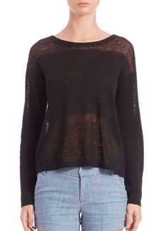 Alice + Olivia Andora Sheer Linen Sweater