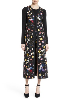 Alice + Olivia Angelica Embroidered Long Vest