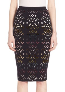 Alice + Olivia Ani Pointelle Pencil Skirt