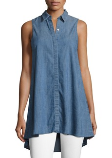 Alice + Olivia Anisa Sleeveless Chambray Tunic Top
