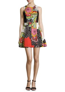 Alice + Olivia Annalyn Printed Fit-&-Flare Dress
