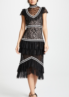 alice + olivia Annetta Ruffle Dress