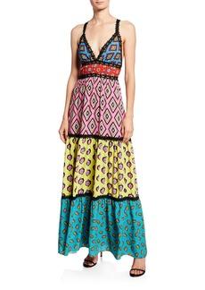 Alice + Olivia AO x CARLA Karolina Paneled Maxi Dress